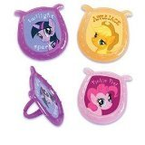 12 My Little Pony Plastic Cupcake Rings
