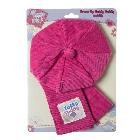 Tatty Teddy Me to You Bear Pink Cord Hat and Scarf