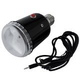 Neewer AC Slave Flash Light with PC Sync Cord Cable 45W 110V 5600K Photo Studio Strobe Bulb