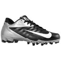 Nike Vapor Pro Low TD Men's Molded Football Cleats (16, Black/White-Metallic Silver) (Nike Boys Vapor Elite compare prices)