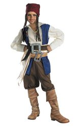Pirates of the Caribbean - Boy's Costume: Jack Sparrow- Large