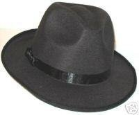 MICHAEL JACKSON BLACK FEDORA HAT - BILLIE JEAN NEW!!