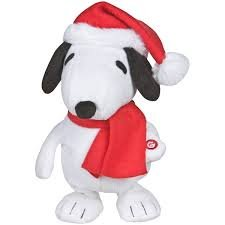 """Peanuts Animated Musical 12"""" Dancing Snoopy Christmas Doll - Plays """"Lucy and Linus"""" Song"""