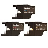 Brother Printer LC753PKS 3 Pack- 1 Each LC75C, LC75M, LC75Y Ink - Retail Packaging