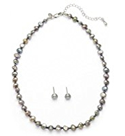 M&S Collection Freshwater Pearl Classic Necklace & Earrings Set
