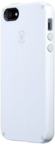 Great Sale Speck Products CandyShell Case for iPhone 5 & 5S - Retail Packaging - White/Pebble Grey