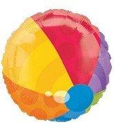"""18"""" Beach Ball Shape Mylar Balloon - Mylar Balloon Foil - 1"""