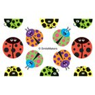 Fun Shapes Ladybugs Stickers - 360 per pack - 360 per pack