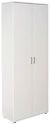 armoire-de-rangement-blanche-a-2-portes-avec-5-etageres