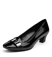 Footglove™ Leather Trim Court Shoes