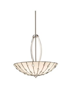 B004LSYFDK Kichler Lighting 65332 4 Light Cloudburst Inverted Large Pendant, Polished Nickel