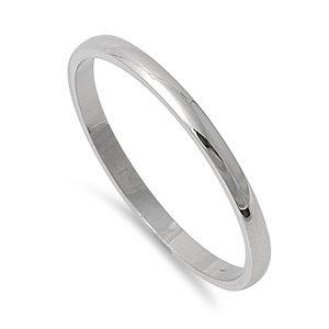 2mm Stainless Steel Plain Wedding Band Ring Size 3-12 (4) (Stainless Steel Mens Rings Size 8 compare prices)