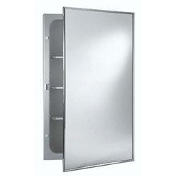 NuTone 473FS Basic Styleline Recessed Steel Medicine Cabinet, White