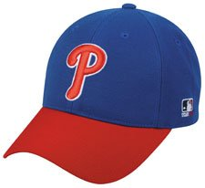 MLB YOUTH Philadelphia PHILLIES Alternate Blue Hat Cap Adjustable Velcro TWILL