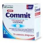 Commit Lozenges, 2 mg, 72-Count (Mint) Nicotine Polacrilex Lozenge.