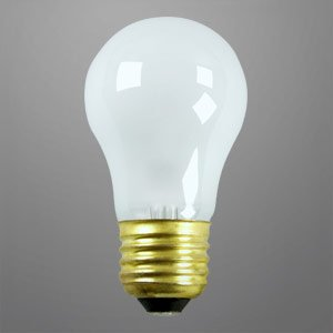 40 Watt A15 Appliance Light Bulb Frosted Incandescent 130 Volts Long Life