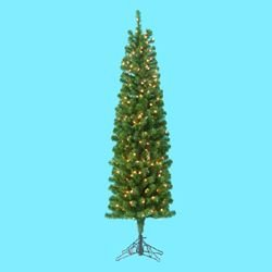 5' Pre-lit Winchester Pine Pencil Artificial Christmas Tree - Clear Lights