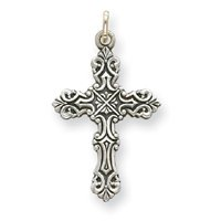 Celtic Sterling Silver Antique Cross with 20 Inch Chain