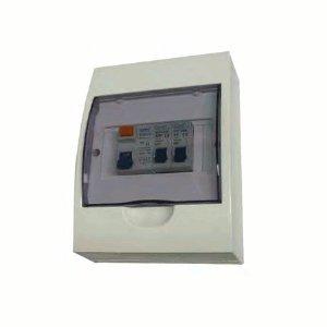 Cudis ECU06/1 Insulated Garage Consumer Unit c/w 6A + 20A Type B MCBs & 63A 30mA RCD IP50