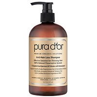 Pura d'or Premium Organic Anti-Hair Loss Shampoo (Gold Label) (pack of 2 (16 OZ. EACH))