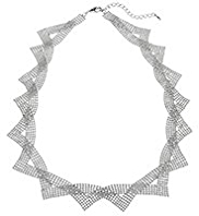 M&S Collection Silver Plated Ball Chain Collar Necklace
