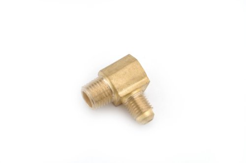 Anderson Metals 04049 Brass Pipe Fitting, 90 Degree Barstock Elbow, 5/16