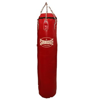 Sandee - Filled Full Leather Punch Bag - Red Feet 5 (For Boxing, MMA, UFC, Muay Thai)
