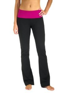Fit Couture Flared Leg, Fold Over Waistband Yoga Pants