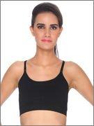 Channel Nine Seamless Gorgeous Black Sports Bra(P2214_Black_S)