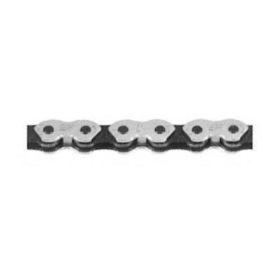 KMC K710 Kool Bicycle Chain (1-Speed, 1/2 x 1/8-Inch, 112L, Silver/Black)