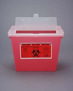 2 Gallon Sharps Container - Red, qty 30