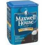 Maxwell House Gound Coffee – 10 filter packs per container, 12 containers per case