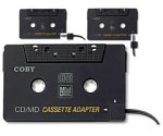 Coby CA-747 Dual Position CD/MD/MP3 Cassette Adapter