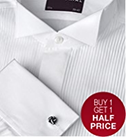 2in Longer Sartorial Pure Cotton Pleated Dress Shirt