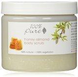 100% Pure: All Natural and Organic, Body Scrub - Honey Almond, 16 oz