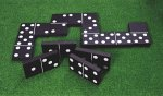 Traditional Garden Games Jumbo Black & White Dominoes