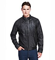 Autograph Luxury Leather Bomber Jacket