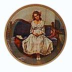 Norman Rockwell Waiting at the dance Knowles Collectible plate 1983 5th plate in rediscovering women series by Edwin M Knowles China Company