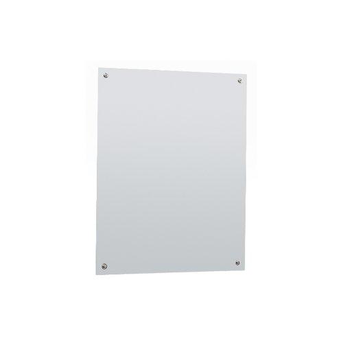 Bobrick B-1556 1824 Frameless, Stainless Steel Mirror, Stainless Steel front-1060610