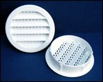 "Round Plastic Louver, 3"" White (Pack of 4)"