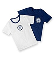 2 Pack Pure Cotton Chelsea Football Club Vests
