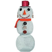No/No Mrs. Snow Man Bird Feeder