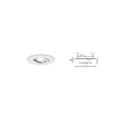 "Bundle-43 6"" Recessed Trim With Adjustable Gimbal Ring (Set Of 6) Trim Finish: Brushed Nickel"