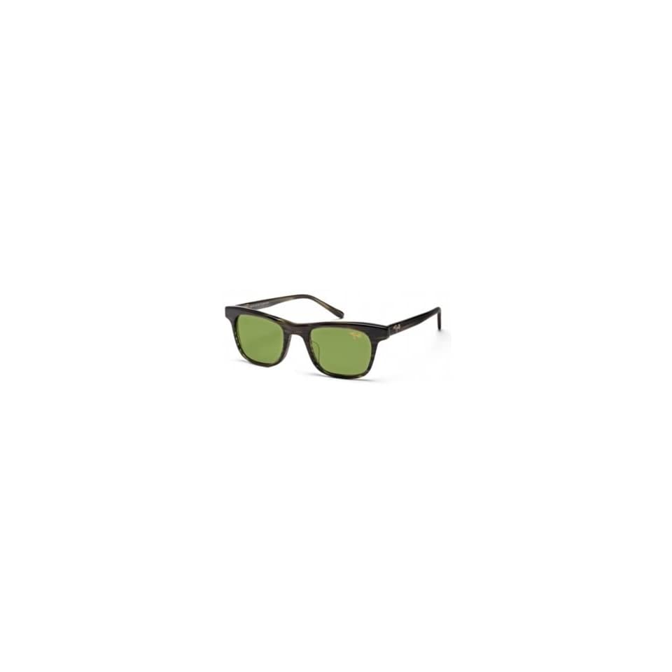 Maui Jim Aloha Friday MJ HT241 15C Olive Stripe HT Polarized Sunglasses