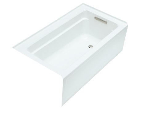 Sale!! KOHLER K-1123-RA-0 Archer 5-Foot Bath with Comfort Depth Design, Integral Apron and Right-Han...