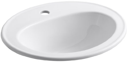 Big Save! Kohler K-2196-1-0 Pennington Self-Rimming Lavatory, White