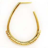 22K Gold Vermeil Huge Hoop Chandelier Earring Parts 40mm