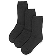 3 Pairs of Thermal School Socks with Wool