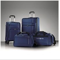 Samsonite Versatility 360 4 Piece Luggage Set - Sapphire Blue - 4 Pcs Spinner Suitcase