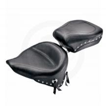 Mustang Wide Studded Solo Seat for Harley Davidson 1996-2003 models with 3.3 ga